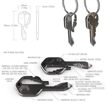 Load image into Gallery viewer, 24 in 1 Key shaped pocket tool