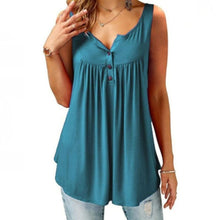 Load image into Gallery viewer, Comfy Loose Button Sleeveless Tank Top For Women