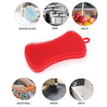 Load image into Gallery viewer, Silicone Kitchen Dishwashing Brush