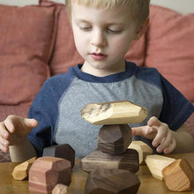Load image into Gallery viewer, Wood Rock Set Balancing Blocks Toy