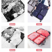 Load image into Gallery viewer, 6 Pieces of Portable Luggage Packing Cubes