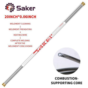Saker® Solution Welding Flux-Cored Rods