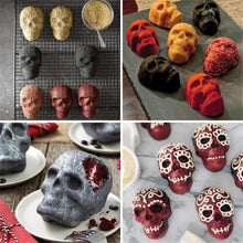 Load image into Gallery viewer, 3D Skull Cake Mold