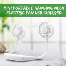 Load image into Gallery viewer, Rechargeable Mini Neck Fans