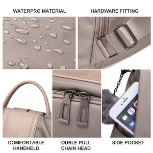 Waterproof Nylon Anti-theft Backpack
