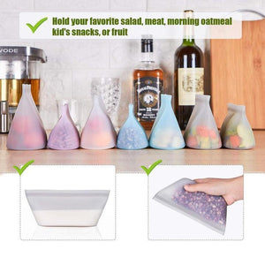 Hirundo Reusable Silicone Food Storage Bags (3 PCs)