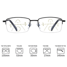 Load image into Gallery viewer, Titanium progressive far and near dual-use reading glasses