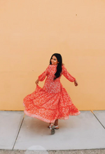 Load image into Gallery viewer, Red Coral Bohemian Adventure Dress