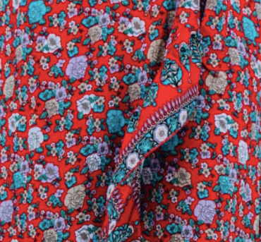 Kid's Red Floral Classic Adventure Dress