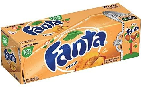 Fanta peach 12x355ml american import - EssexDrinks