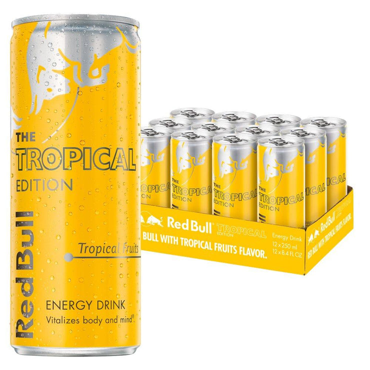 Red Bull Energy Drink Tropical Edition 250ml (Case of 12)