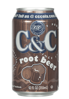 C&C root beer 24x355ml cans american import - EssexDrinks