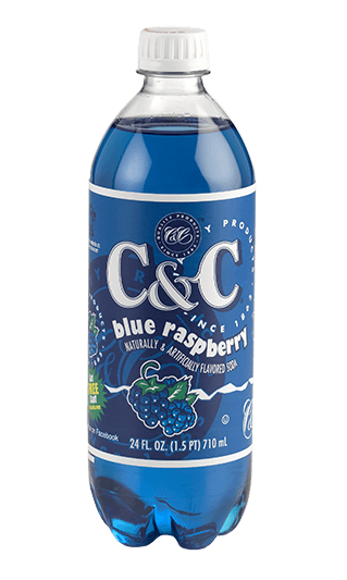 C&C blue raspberry 1x710ml american import - EssexDrinks