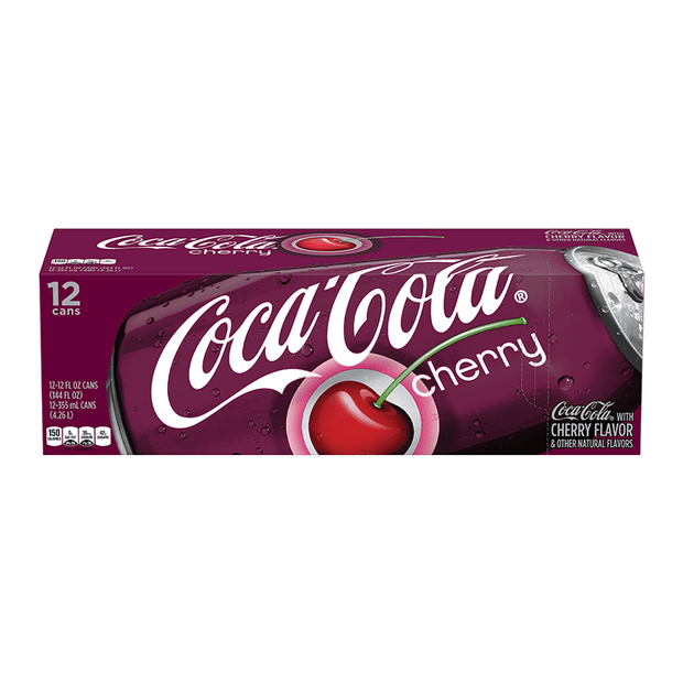 Coca cola Cherry 12x355ml american import - EssexDrinks