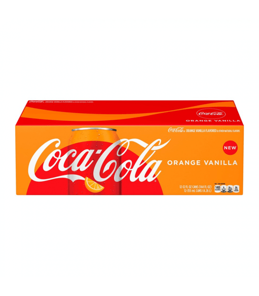 Coca cola orange vanilla 12x355ml american import - EssexDrinks