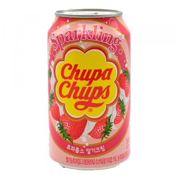 Chupa chups sparkling strawberry 6x345ml korean import - EssexDrinks