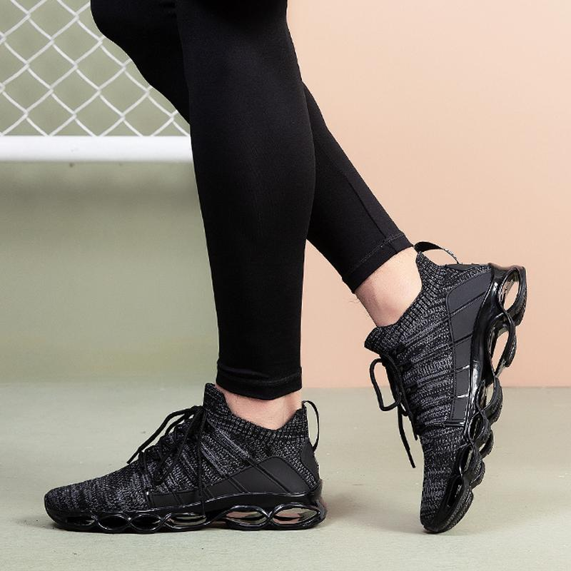 Breathable Knitted Lace Up Men's Sneakers