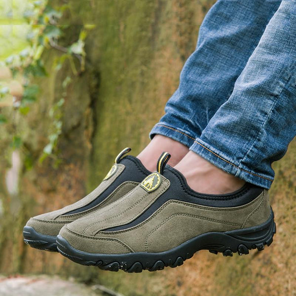 Breathable Suede Slip On Men's Outdoor Shoes