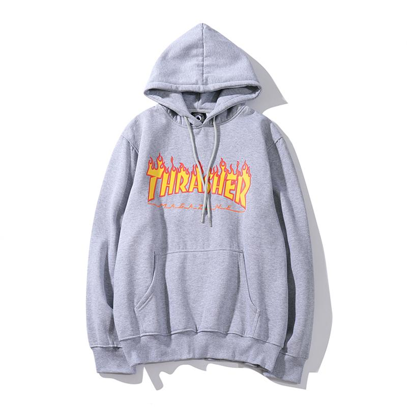 Casual Relaxed Letter Printed Hooded Sweater
