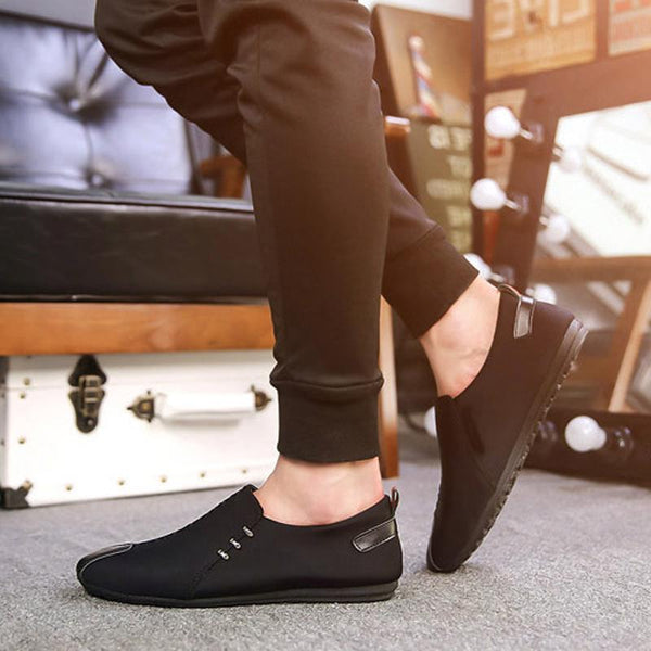 Cloth Slip-On Breathable Men's Loafers