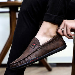 Leather Slip-On Men's Loafers