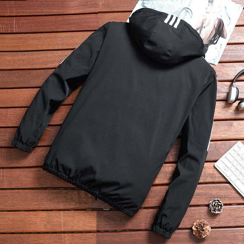 Casual Slim Fit Plain Hooded Jacket