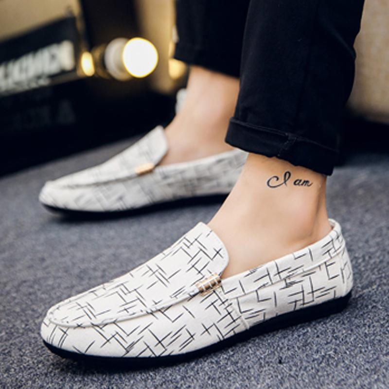 Canvas Slip-On Men's Loafers