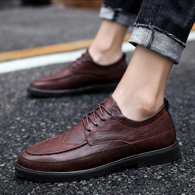 Cowhide Lace Up Men's Dress Shoes