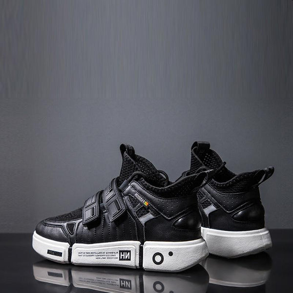 Mesh Lace Up Platforms Men's Sneakers