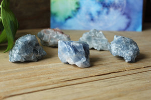 Blue Calcite Crystal Gemstone