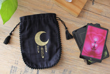 Load image into Gallery viewer, Tarot & Oracle Card Pouch | Moon Feather
