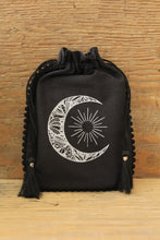 Load image into Gallery viewer, Tarot & Oracle Card Pouch | Crescent Moon