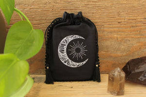 Tarot & Oracle Card Pouch | Crescent Moon