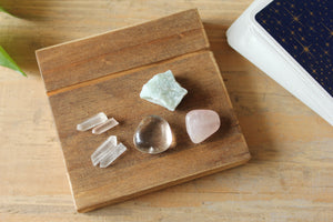 Tarot Card Holder / Stand with Crystal Grid Set