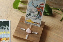 Load image into Gallery viewer, Tarot Card Holder / Stand with Crystal Grid Set