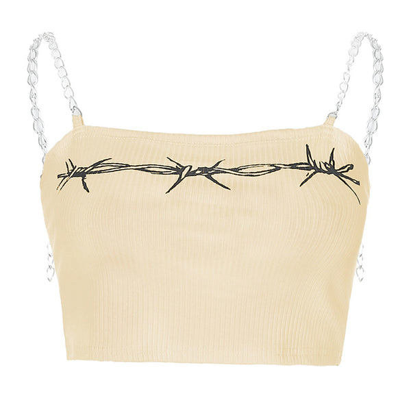 Printed chain camisole