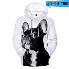 Printed 3D Hooded Long Sleeve Sweatshirt