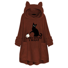 Pullover cat sweater