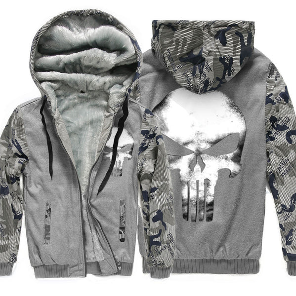 Winter camouflage cotton hooded sport hoodie with fleece