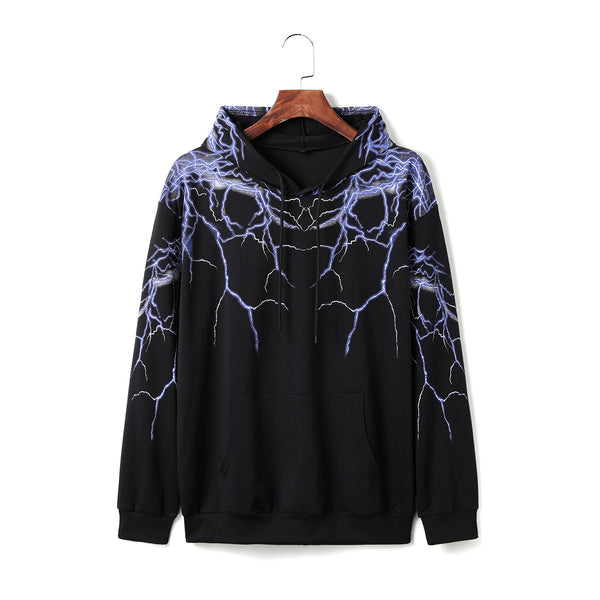 Long sleeve hooded velvet sweater