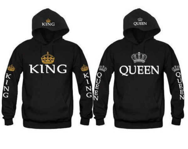 Blue King & Queen Hoodies
