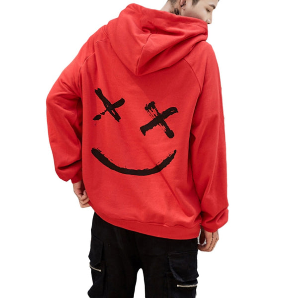 Graffiti smiley stitching sweater