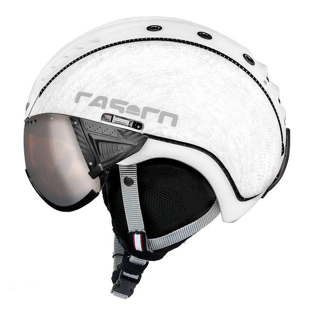 Casco SP-2 vizier helm wit/melange - Damplein 9 SKI & Fashion