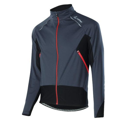Löffler windstopper softshell light jersey jack graphite - Damplein 9 SKI & Fashion