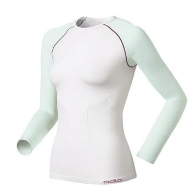 Odlo Performance Evolution warm dames thermoshirt wit - Damplein 9 SKI & Fashion