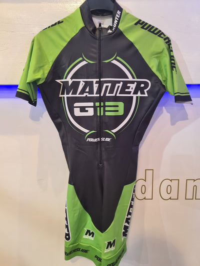 Powerslide Matter Hunter Zwart/Groen Skeeler racing suit - Damplein 9 SKI & Fashion