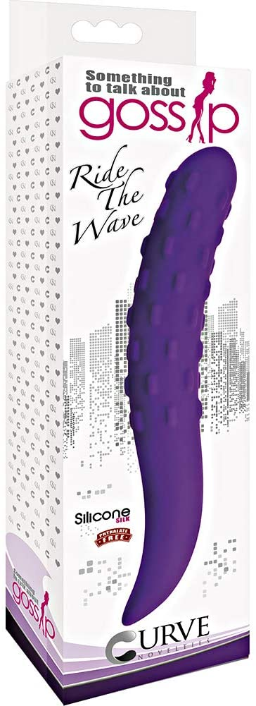 Ride The Wave Silicone Dildo- Violet
