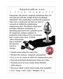 Adam & Eve Pink Gem Anal Plug Small - Silver-pink