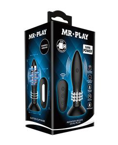 Mr. Play Rotating Bead Butt Plug - Black