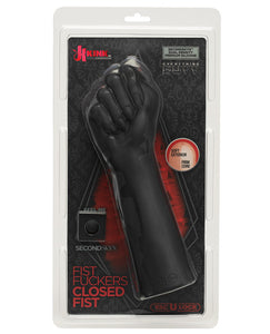 Kink Fist Fuckers Closed Fist Secondskin Dual Density Silicone - Black